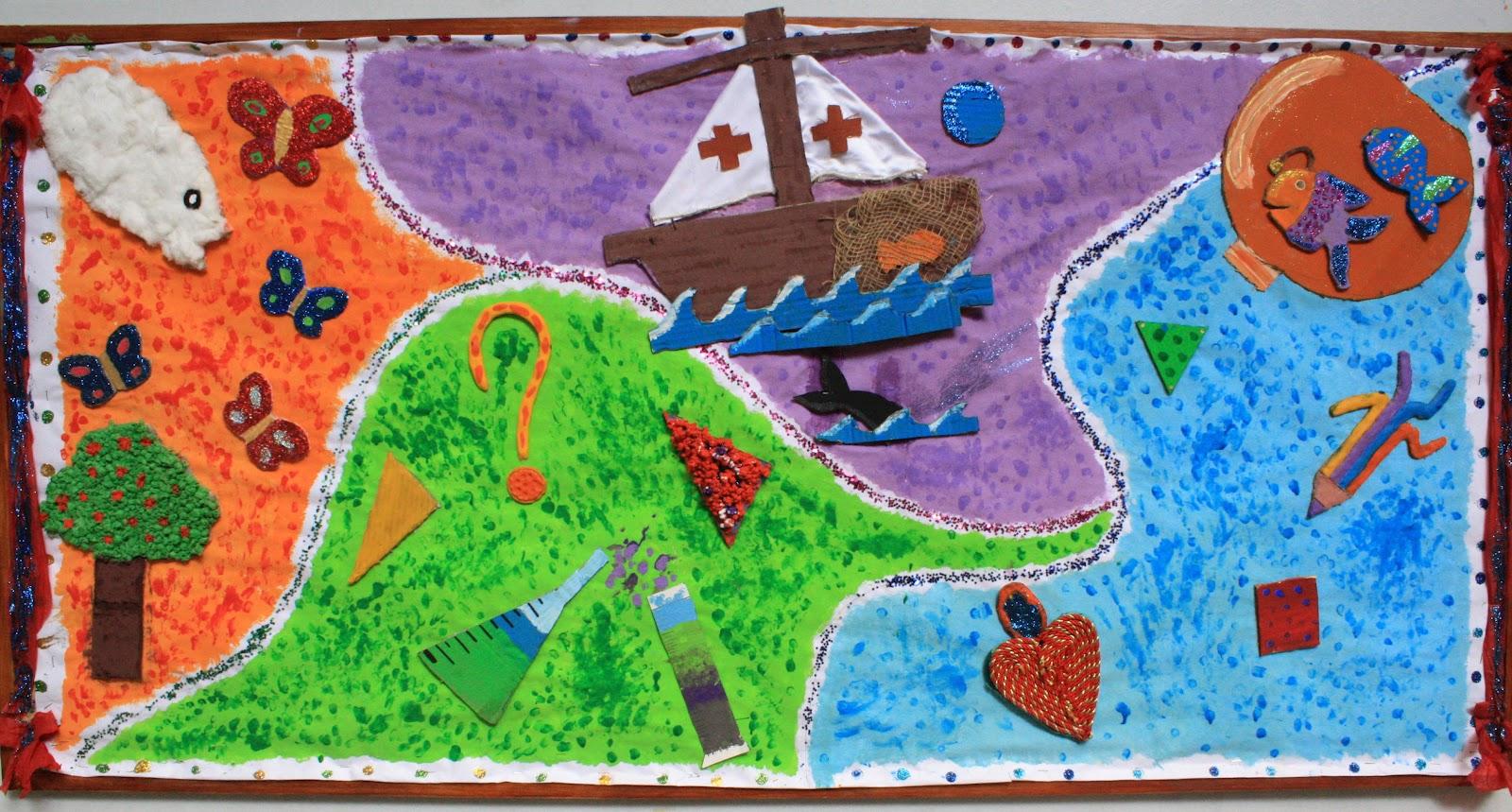 Epv colegio san jos dominicas murales creatividad for Murales faciles y creativos