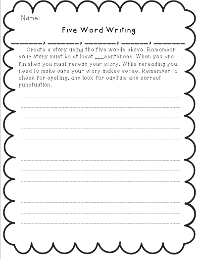 3rd Grade Story Worksheets : Courtney mann etc word writings