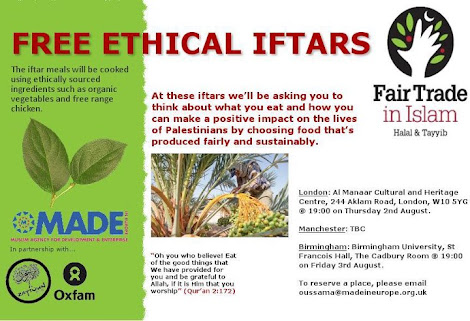 green ethical iftar ramadan