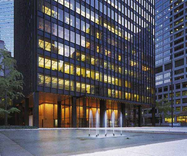 The Seagram Building NYC Ludwig Mies Van Der Rohe Archistate