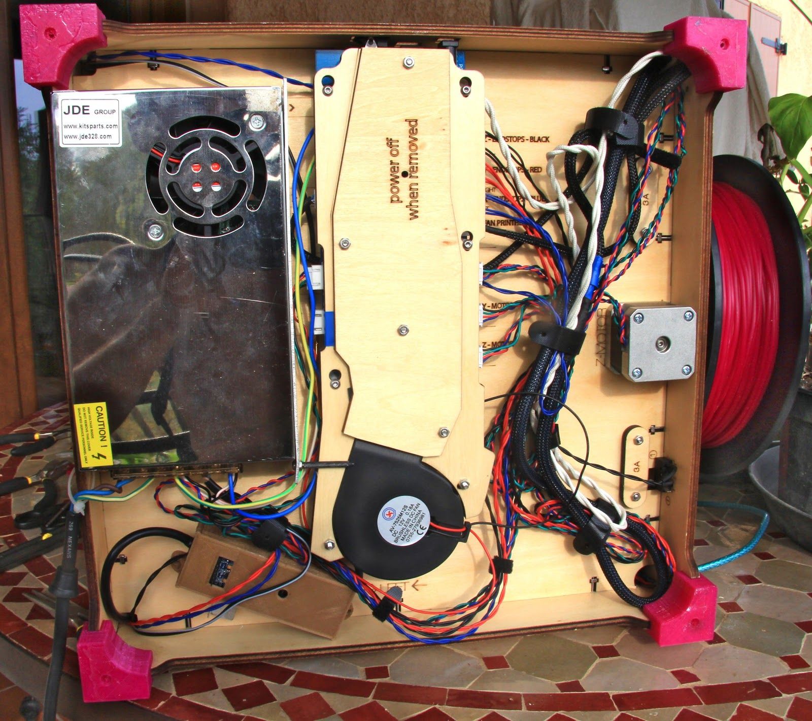 3d Printer Improvements Homemade Heated Bed Reprap Limit Switch Wiring Diagram One Single Power Supply Located Under The