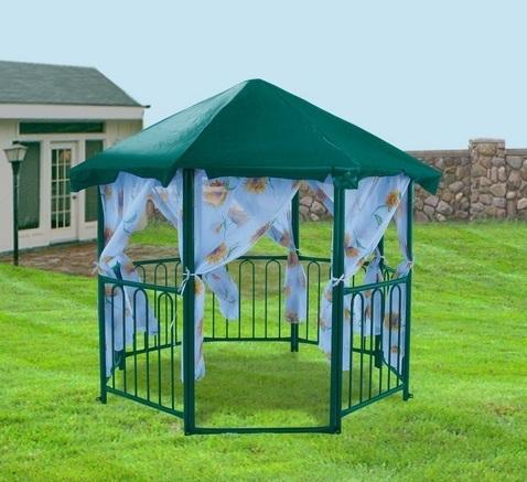pavillon aus metall fotos laube foto. Black Bedroom Furniture Sets. Home Design Ideas
