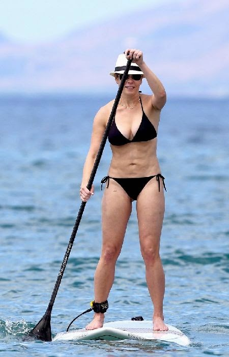 Retro Bikini Chelsea Handler Frolicks In A Black Bikini