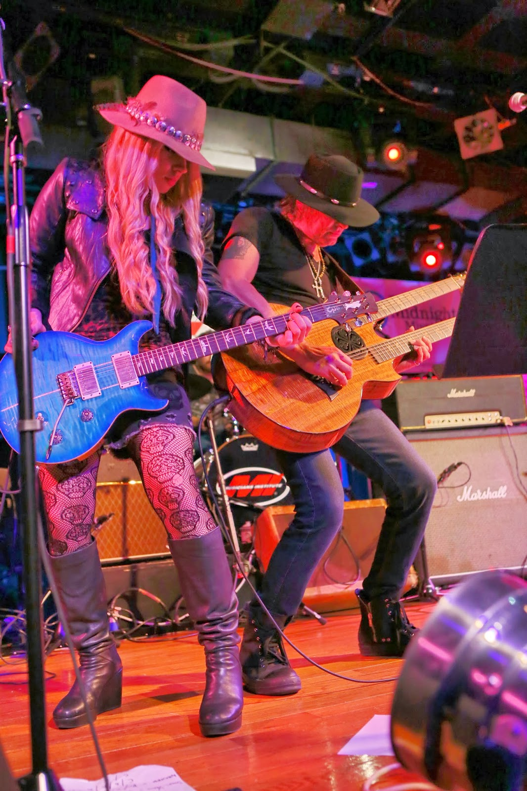 Richie Sambora and Orianthi - Photo by Karl Larsen