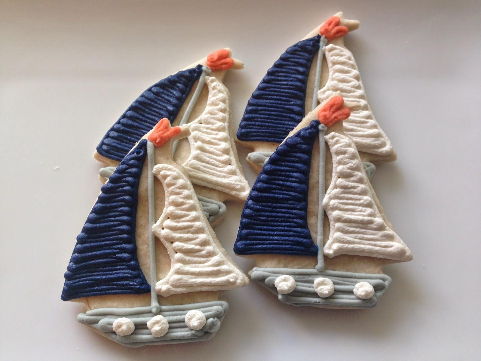 Sailboat cookies, Vegan Sugar Cookies