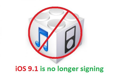 Apple is no longer signing the iOS 9.1 software update for all compatible iPhone, iPad and iPod touch devices, meaning that users can no longer downgrade to that version using iTunes. Apple is now only signing iOS 9.2 upon restore.