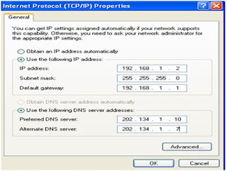 Internet Protocol TCP/IP Properties