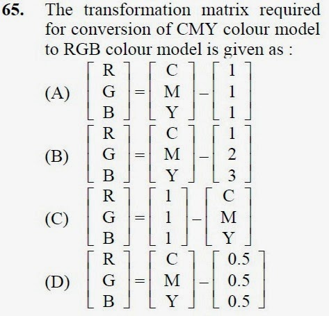 2013 December UGC NET in Computer Science and Applications, Paper III, Question 65