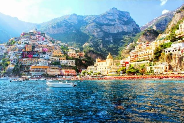 Positano, Amalfi coast, Italy, panorama