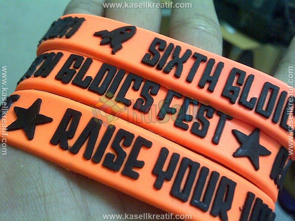 Gelang Karet Rubber Promosi Tanpa Sambungan GLDICS FEST 1500pcs