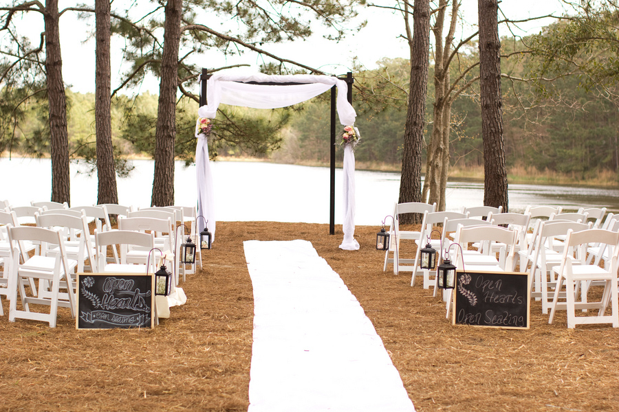 private island ceremony, lakehouse at bulow, charleston
