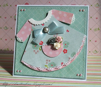 Платье скрапбукинг открытка 35