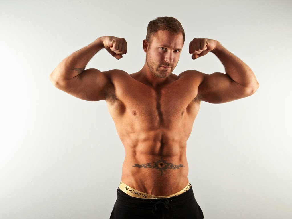 Redheaded Man Hairy Armpits Muscular Biceps