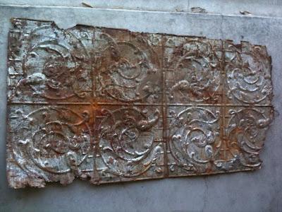 Adventures In Creating: Antique Tin Ceiling Tile Frame Part Deux