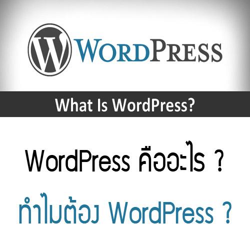 WordPress คืออะไร ?