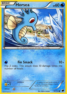 Horsea Plasma Freeze Pokemon Card