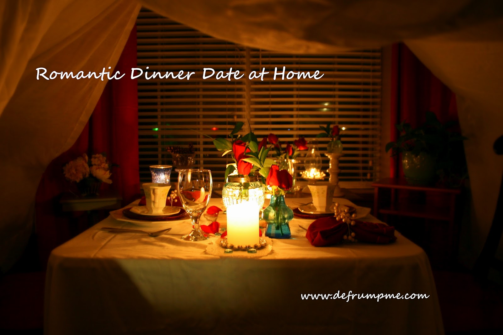 defrump me romantic dinner date at home