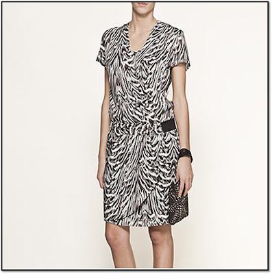Zebra square : La Robe IKKS zebre
