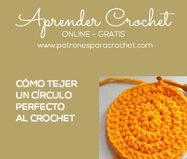 Aprende a tejer un círculo crochet