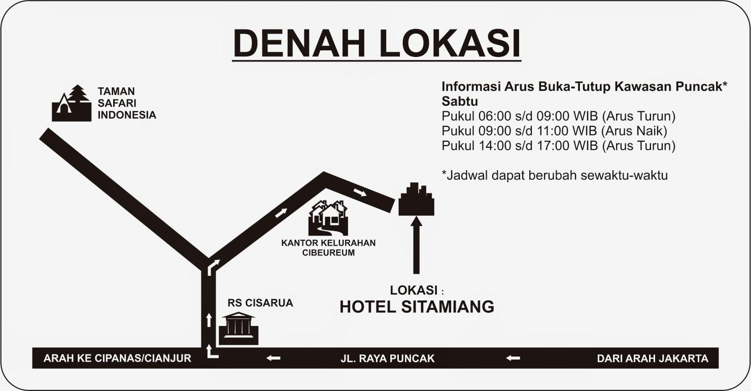 Denah Lokasi Hotel Sitamiang Puncak Bogor