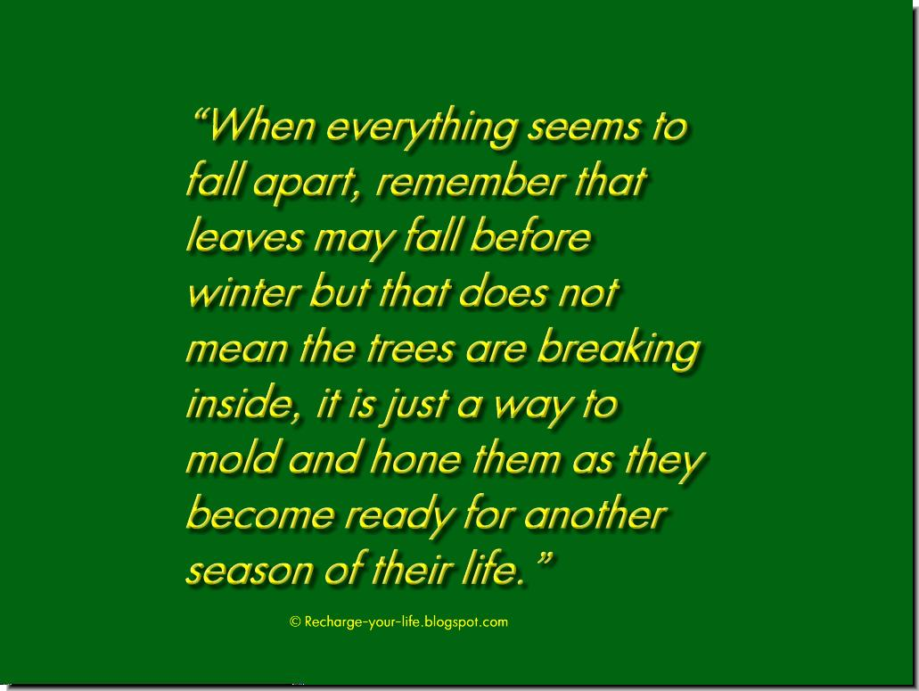 Falling Apart Quotes Seems to fall apart, Quotes About Falling Apart