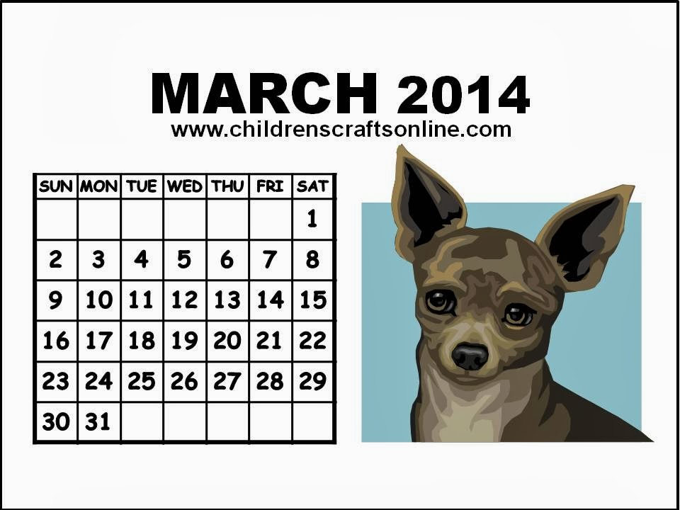 Cute March 2014 Calendar Printable Here is a March 2014 Calendar