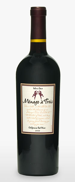 the winey mom winey tasting notes the naughty wine names series menage a trois red. Black Bedroom Furniture Sets. Home Design Ideas
