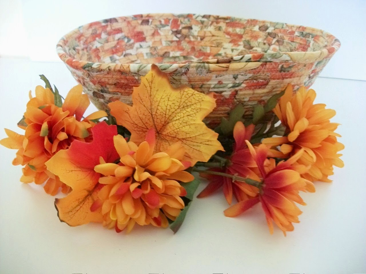 autumn fabric bowl