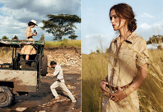 Safari Tapete Out Of Africa : Keira Knightley Vogue Africa