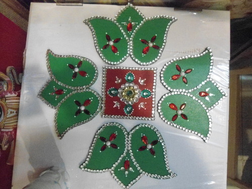 Rangoli beads designs rangoli bead pattern beaded for Door design rangoli