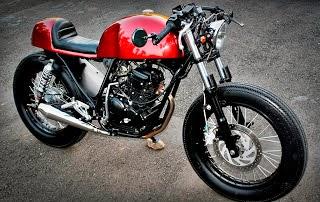 Yamaha Scorpio modifikasi beraliran cafe racer