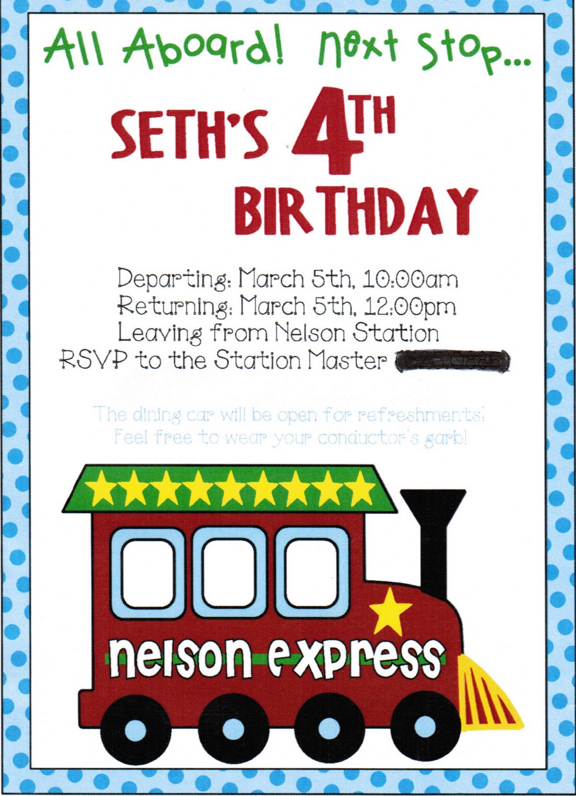 ReMarkable Home Simple Train Birthday Party