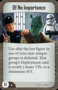 Imperial Assault Mercenarios prescindibles Of No Importance