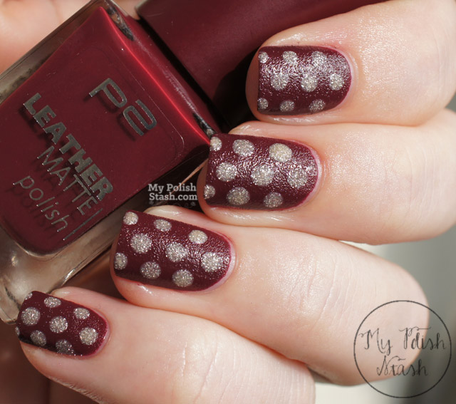 textured polka dot nail design