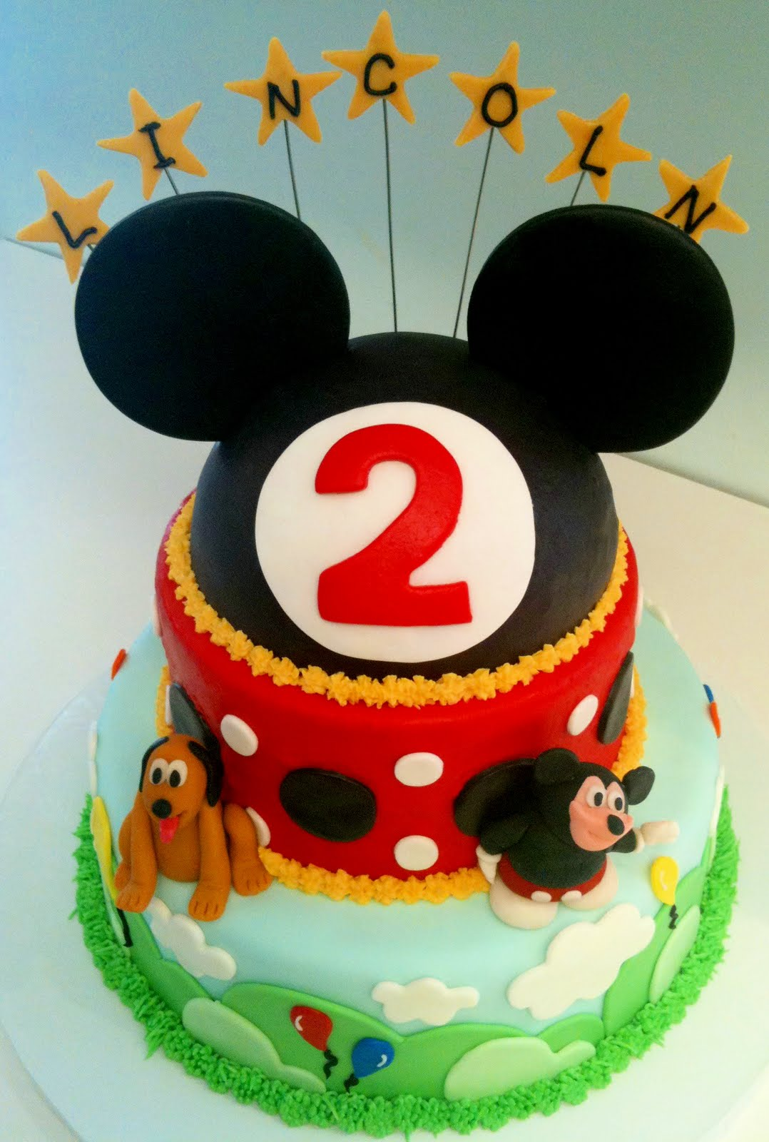 Cake Images Of Mickey Mouse : MegMade Cakes: Lincoln s Mickey Mouse cake