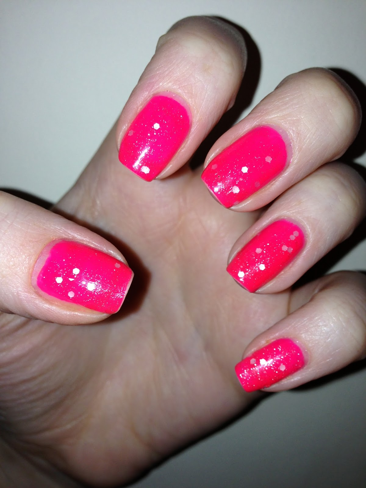 NailsByNumbers: NOTD! Loud and Subtle - Neon Pink with OPI\'s ...