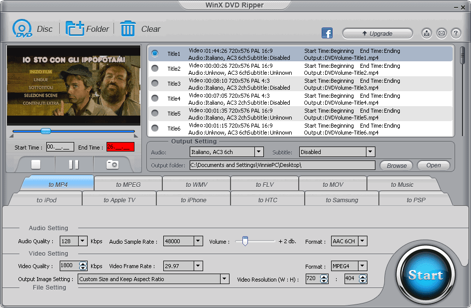 WinX DVD Ripper Free Edition