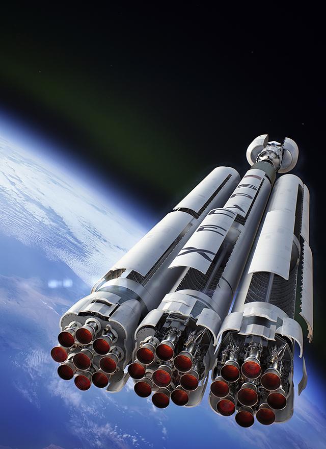 falcon heavy rocket concept-#22