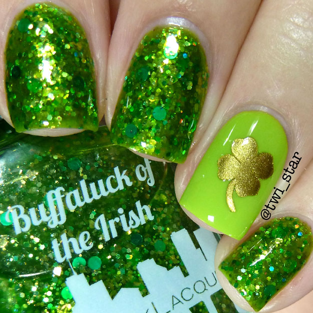 Gridlock Lacquer Buffaluck of The Irish St. Patricks Day Nail Polish