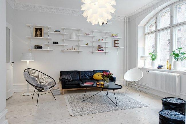 Salones de estilo n rdico decorar tu casa es - Salones con estilo ...