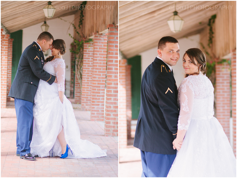 bride and groom army dress blues south florida wedding photographer erica j photography