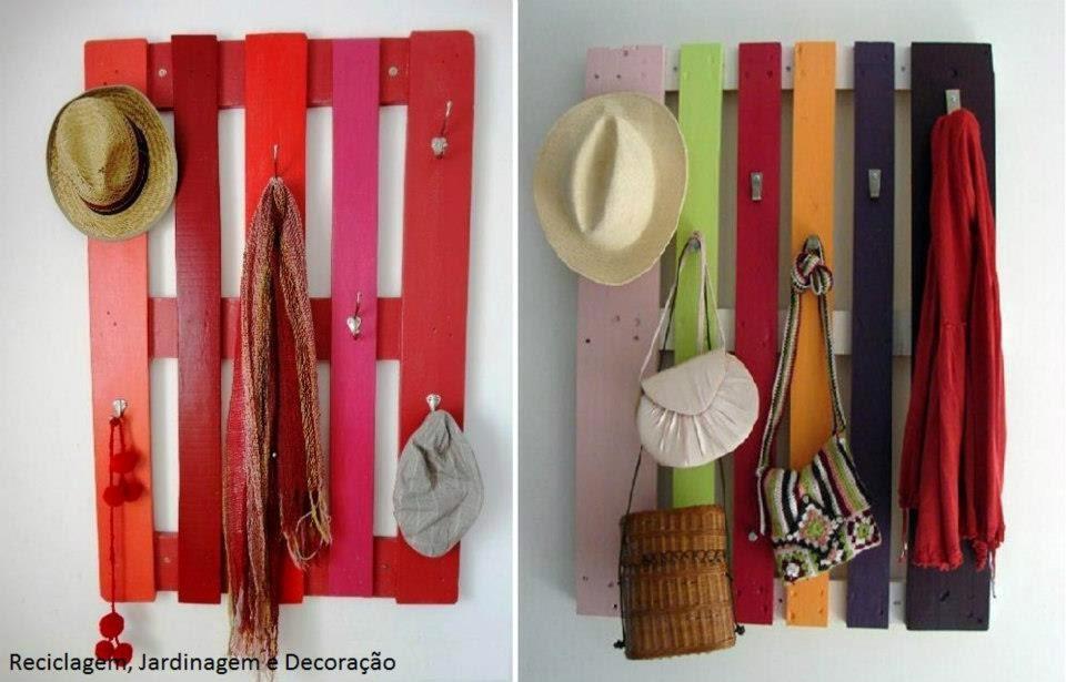 Tarequisses paletes reciclagem de paletes portas velhas peda os de m - Porte manteau palette ...