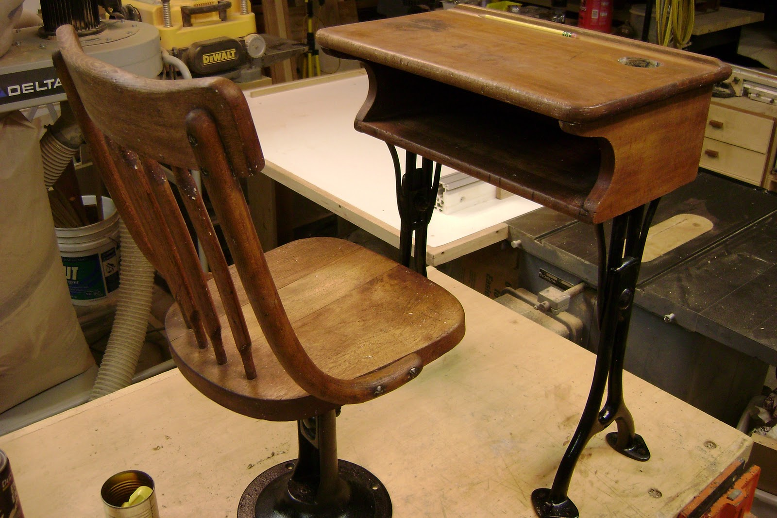 Alaska Wood Old School Desk restored : DSC01677 <strong>High Stool</strong> Desk Chairs from alaskawood.blogspot.com size 1600 x 1067 jpeg 273kB