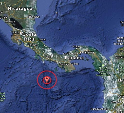 south of panama earthquake 2013 March 01