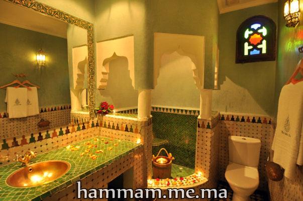 Salle du bain hammam marocain moderne et traditionnel 2013