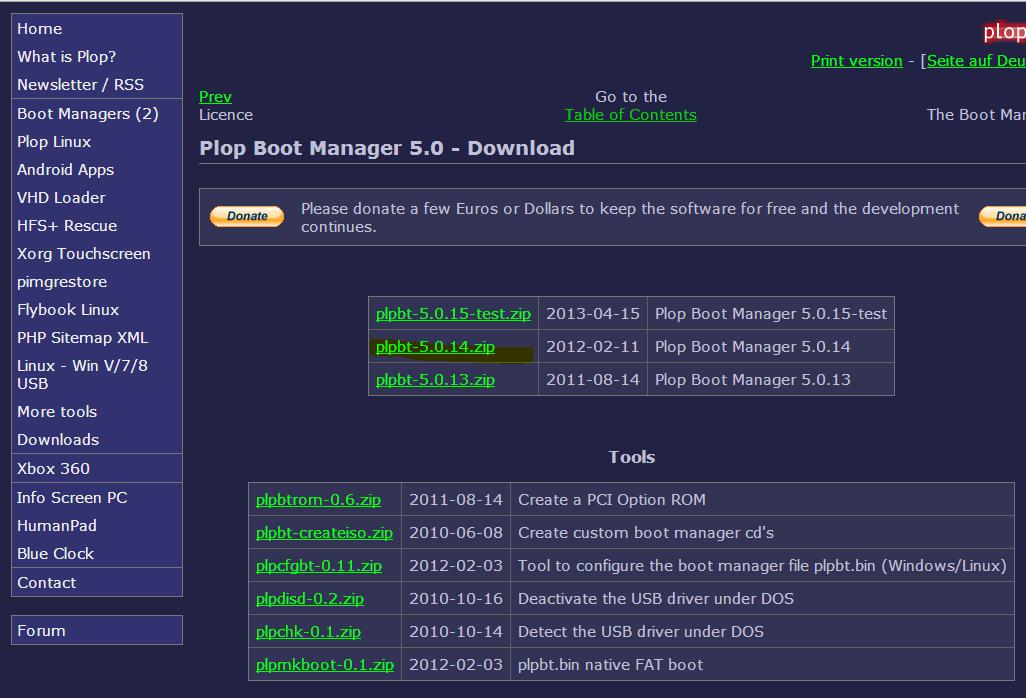как установить plop boot manager