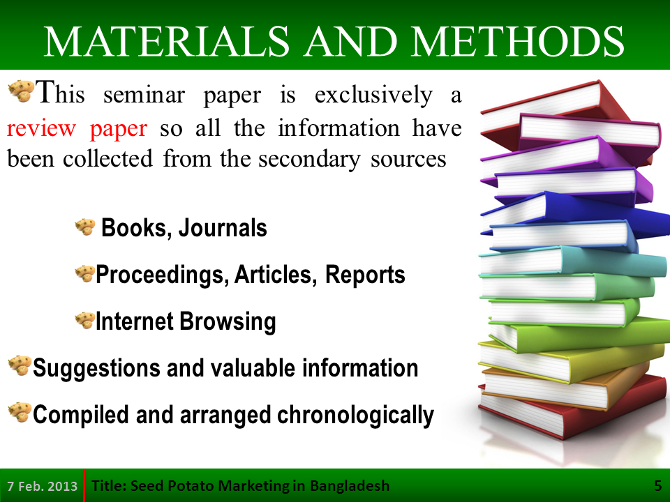 materials and methods lab report