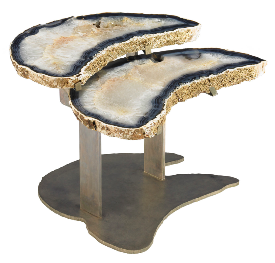 This table is definitely aspirational, but would be a breathtaking addition  to a living or sitting room. Geode table in Agate and Bronze by Brenda  Houston, ... - A Well-Nurtured Life: Nurture Your Home - Gorgeous Geodes