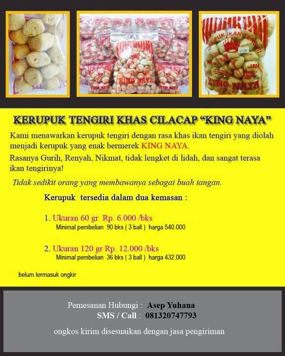 "Kerupuk Tengiri "" KING NAYA "" Khas Cilacap"