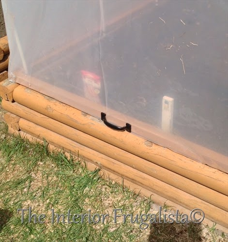Mini greenhouses for raised beds with handle and hinges